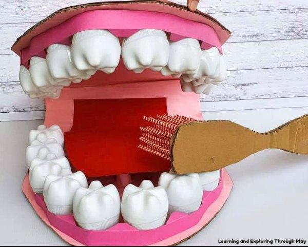 DIY Dental Teeth Props for Kids