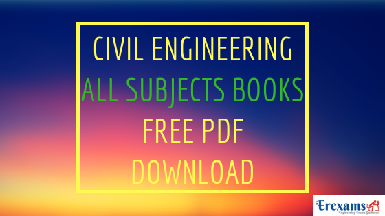 Civil Engineering All Subjects Books and Lecture Notes Free Pdf Download