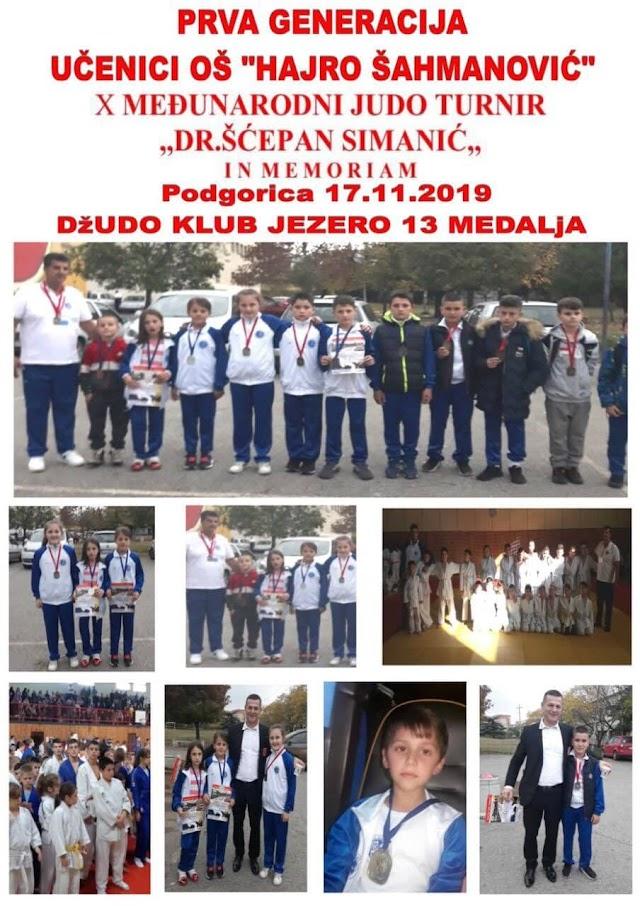 Trinaest medalja za naše džudiste sa turnira u Podgorici