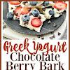 Greek Yogurt Chocolate Berry Bark