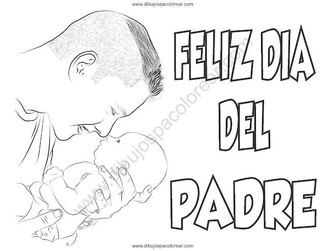 Dibujos Día del padre para colorear