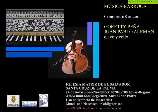 La iglesia de El Salvador acoge un concierto de música barroca a cargo de Goretty Peña y Juan Pablo Alemán