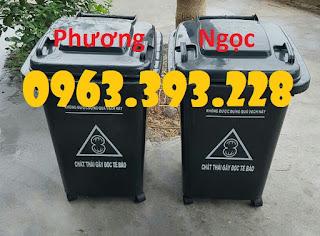 Thùng rác y tế 60L nắp kín, thùng rác y tế 4 bánh xe 0678290a78d09a8ec3c1