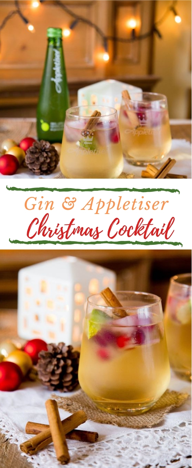 GIN & APPLETISER – A REFRESHING CHRISTMAS COCKTAIL #Drink #Cocktail