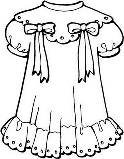 COLOREA TUS DIBUJOS: Dibujo de vestido de niña para colorear