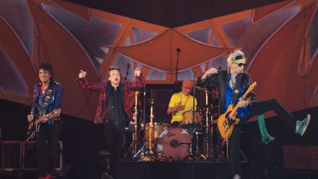 The Rolling Stones, durante una actuación de Madrid en 2014