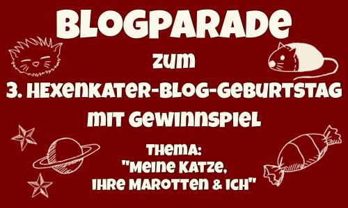 Die 1. Tyrrin-Hexenkater-Geburtstags Blogparade mit Gewinnspiel