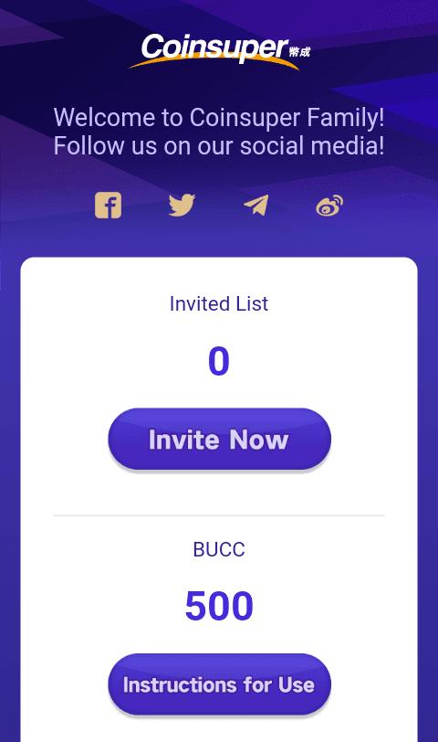 Sampai disini Anda sudah berhasil mendapatkan 500 BUCC Token. Jika Anda ingin memperoleh penghasilan lebih, Anda bisa mengundang teman melalui link refferal.