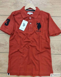 Cotton Solid Polo Collar T-Shirts