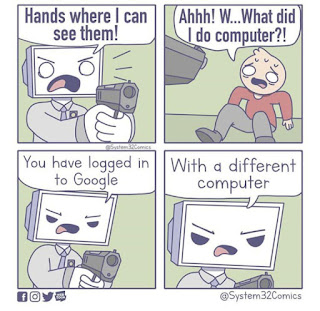 Google login Meme by @system32comics on Instagram