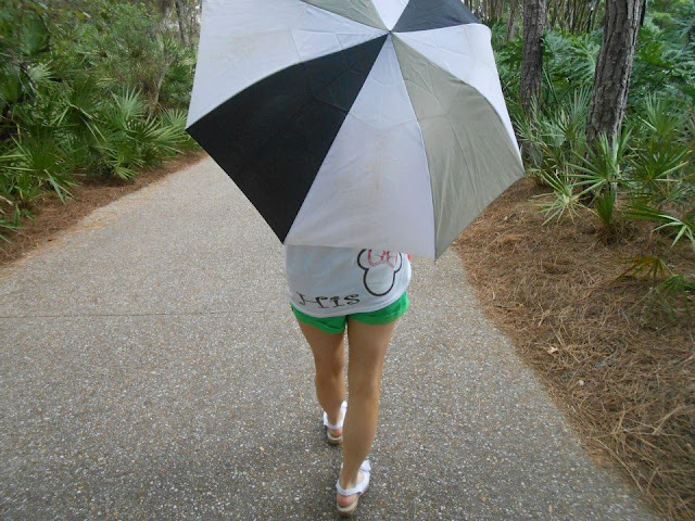 Image of umbrella, Disney shirt