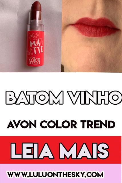 Batom Matte Avon Color Trend Vinho FPS15