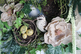 bird nest wreath