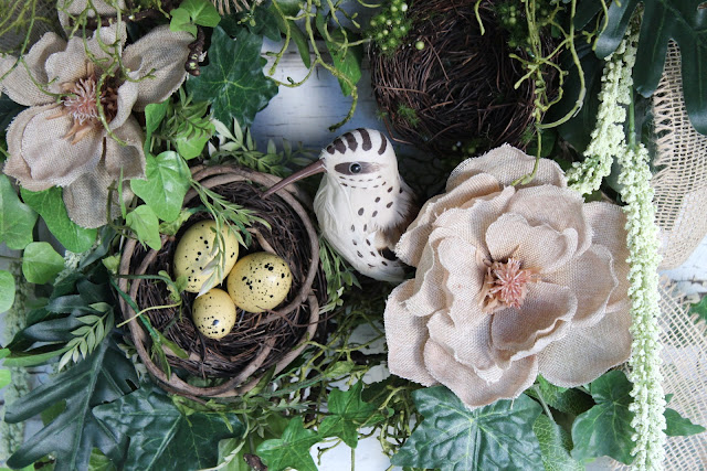 bird nest wreath