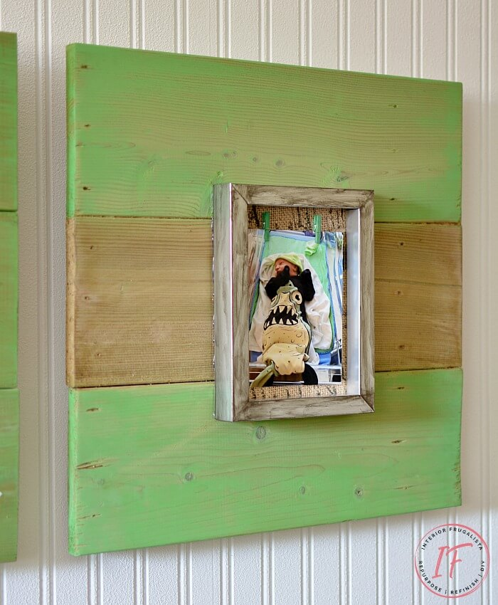 DIY Rustic Interchangeable Photo Picture Frame Wall Art