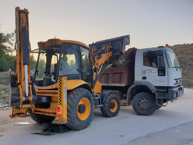 Συνεχείς οι παρεμβάσεις του Δήμου Ναυπλιέων για τα ογκώδη απορρίμματα