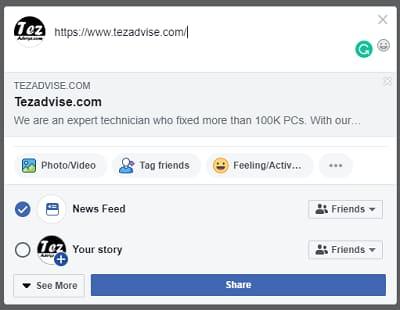 update your facebook timeline