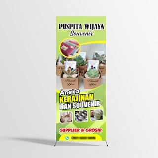 contoh desain x banner souvenir