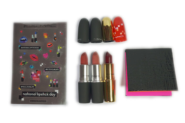 MAC Powder Kiss Lipstick Duo Set in Devoted to Chili and Mull It Over