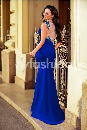 rochie lunga albastra sirena de ocazii