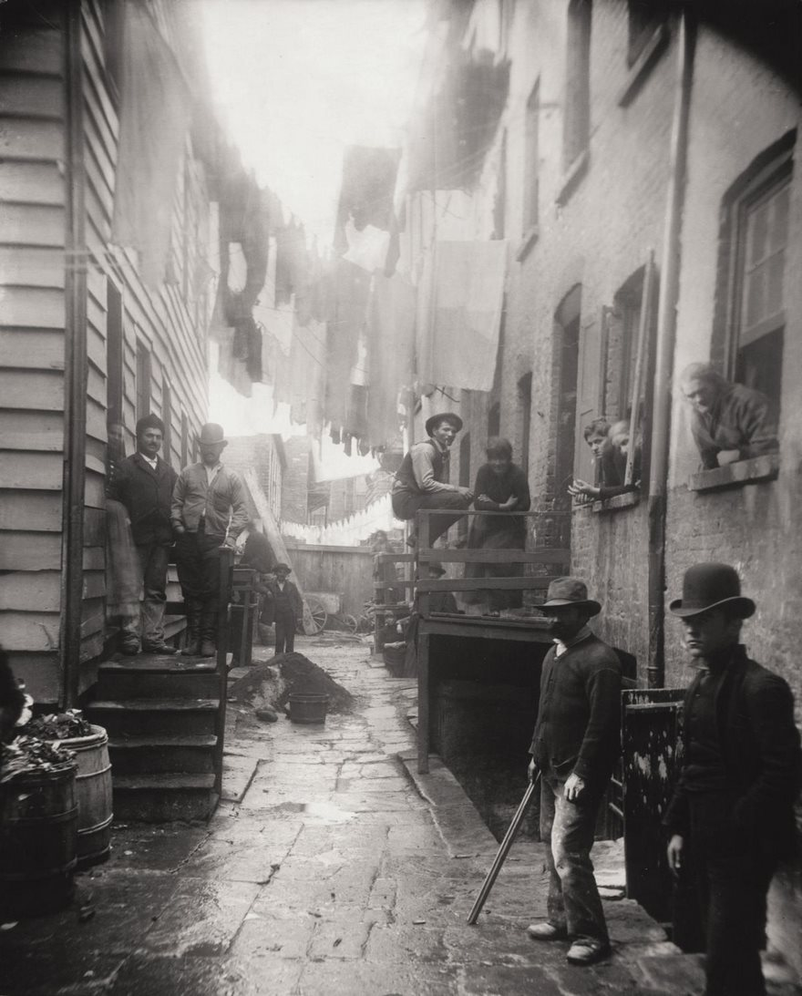 #46 Bandit's Roost, Mulberry Street, Jacob Riis, Circa 1888 - Top 100 Of The Most Influential Photos Of All Time