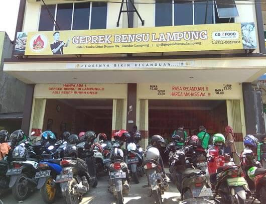 Alamat Geprek Bensu Lampung