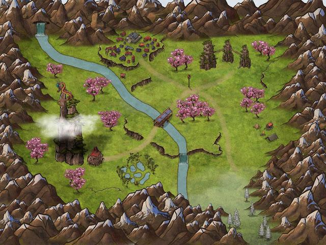 Seis mapas para tus partidas de rol - Valle Oriental