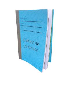 Cahier d'appel (Cahier de présence)