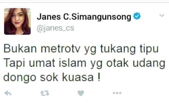 Kicauan Biadab Produser Metro TV Janes C Simangunsong Berbuntut Panjang, Netizen Sebar Foto Pribadi