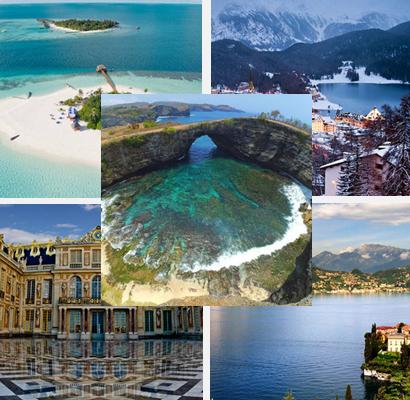 Ilustrasi Tempat Wisata Favorit Selebriti Dunia