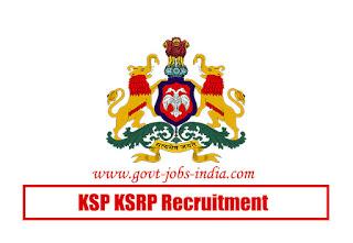 KSP KSRP Recruitment 2020
