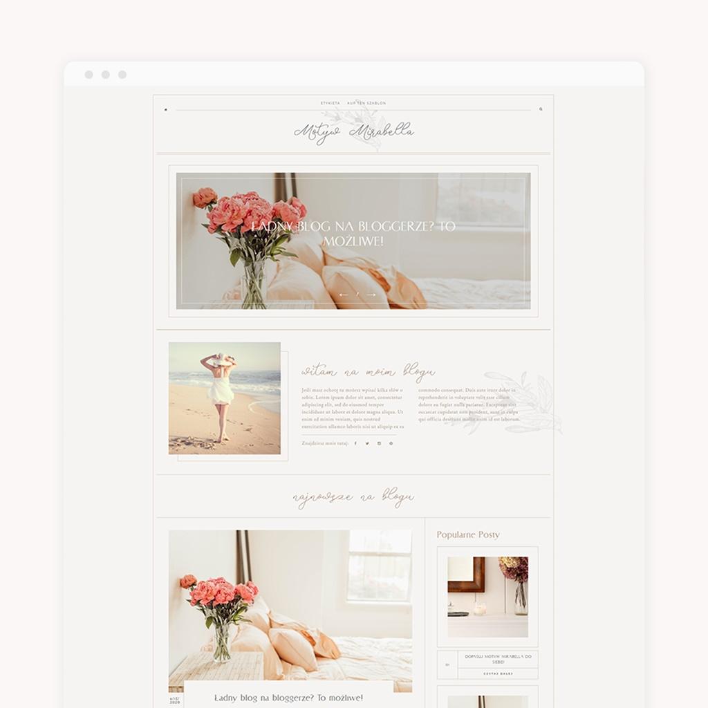 szablon na blogspot Mirabella