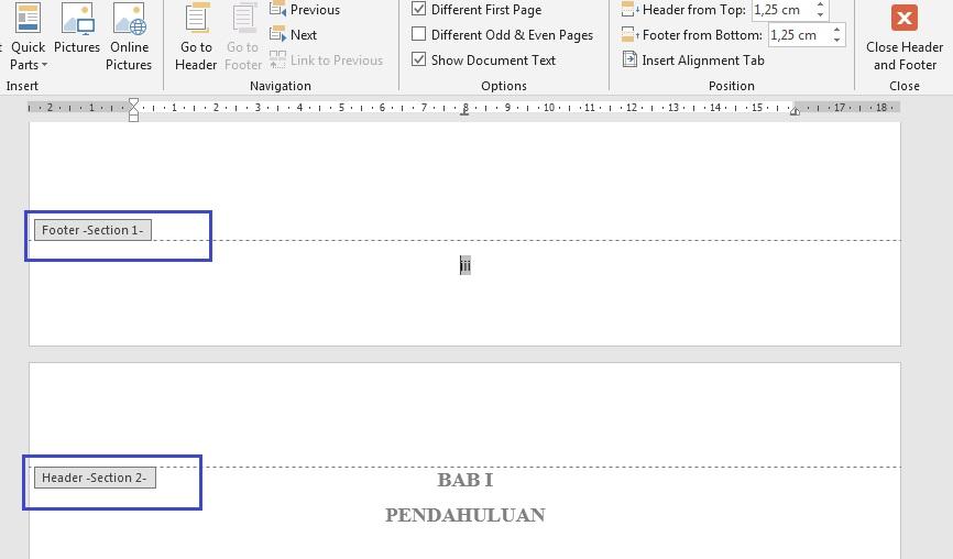 Cara Menambahkan Halaman Dengan Format yang Berbeda dalam Satu File pada MS Word
