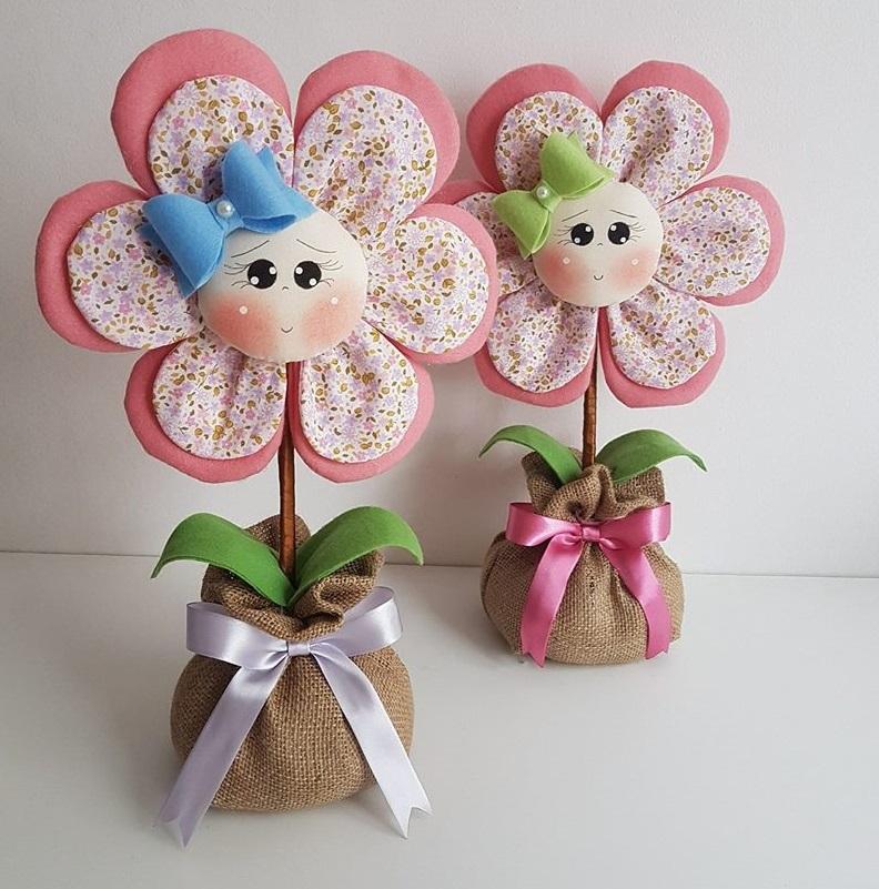 Artesanato Verefazer ~ Flor de tecido com molde Como Fazer