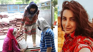 Tisca-chopra-and-her-parents-distributes-rice-to-the-needy-people-covid-19