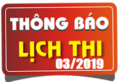 Lịch thi sát hạch lái xe ô tô B1, B2, D, E tháng 03/2019