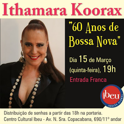 Ithamara Koorax apresenta show 60 anos de Bossa Nova