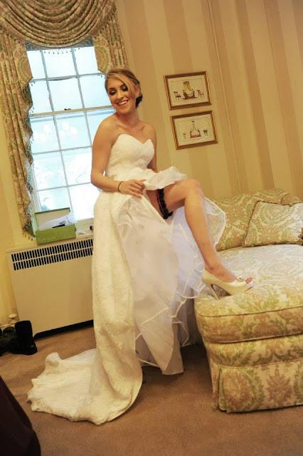 Washington Capitals Wedding Garter by Sugarplum Garters