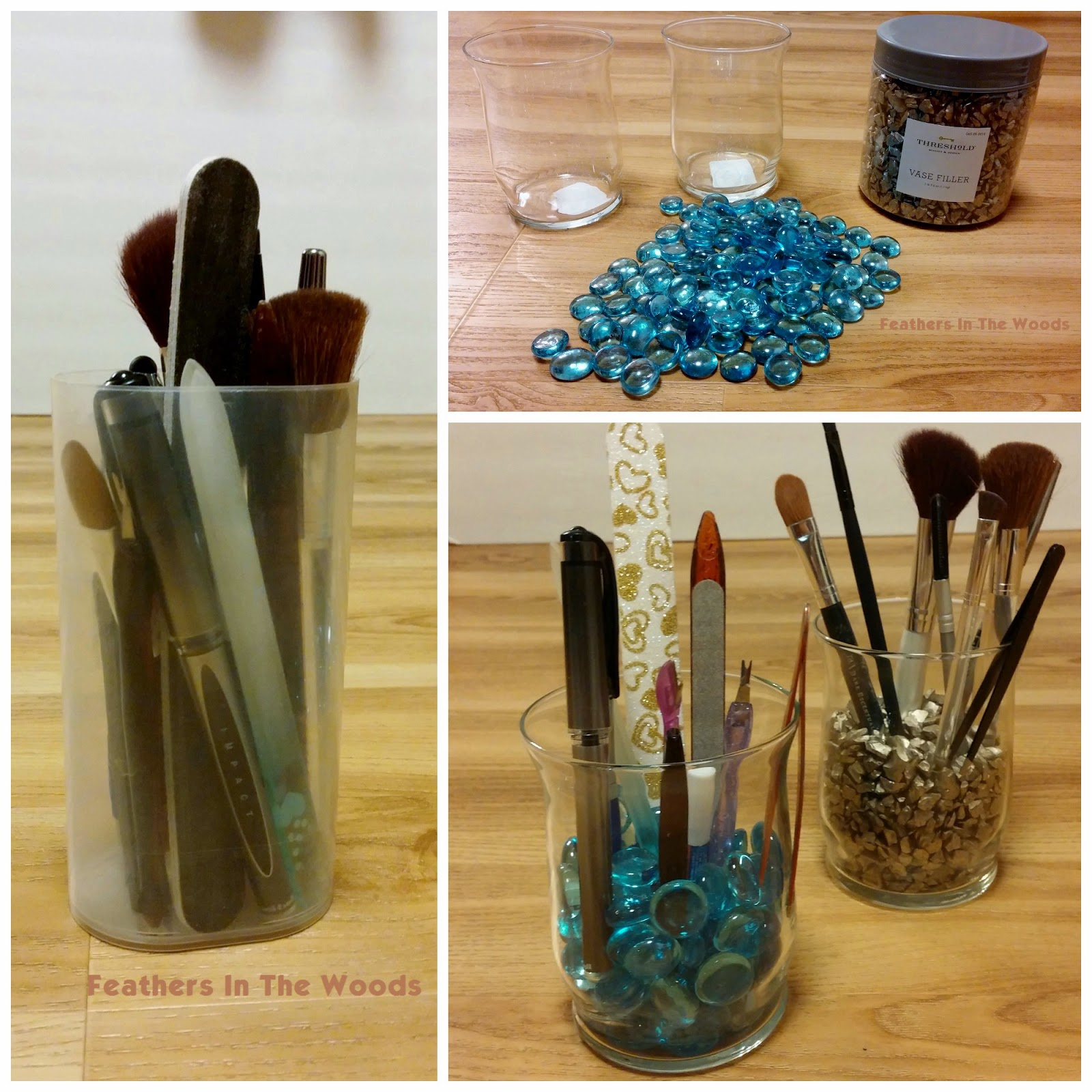 DIY, Makeup brush organizer