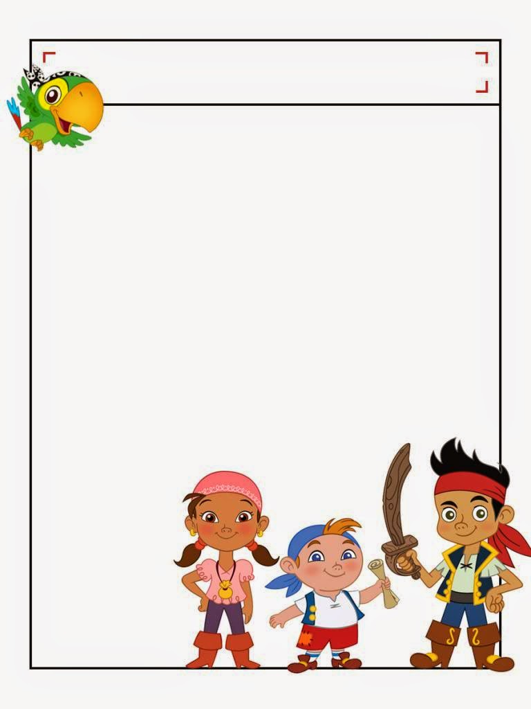 Jake and the Neverland Pirates Free Printable Notebook