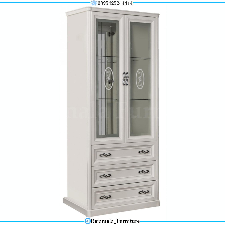 Lemari Hias Minimalis Putih Duco Terbaru Furniture Jepara Released Item RM-0181