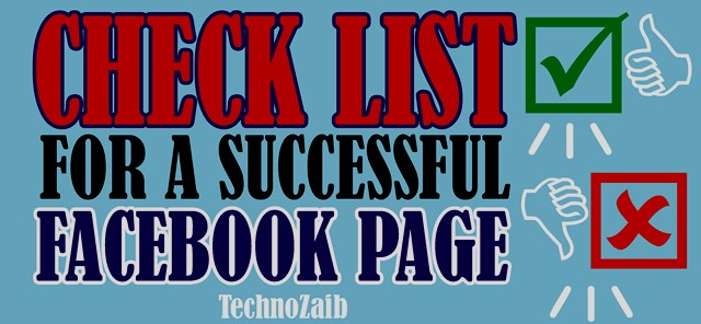 Checklist for a successful Facebook page