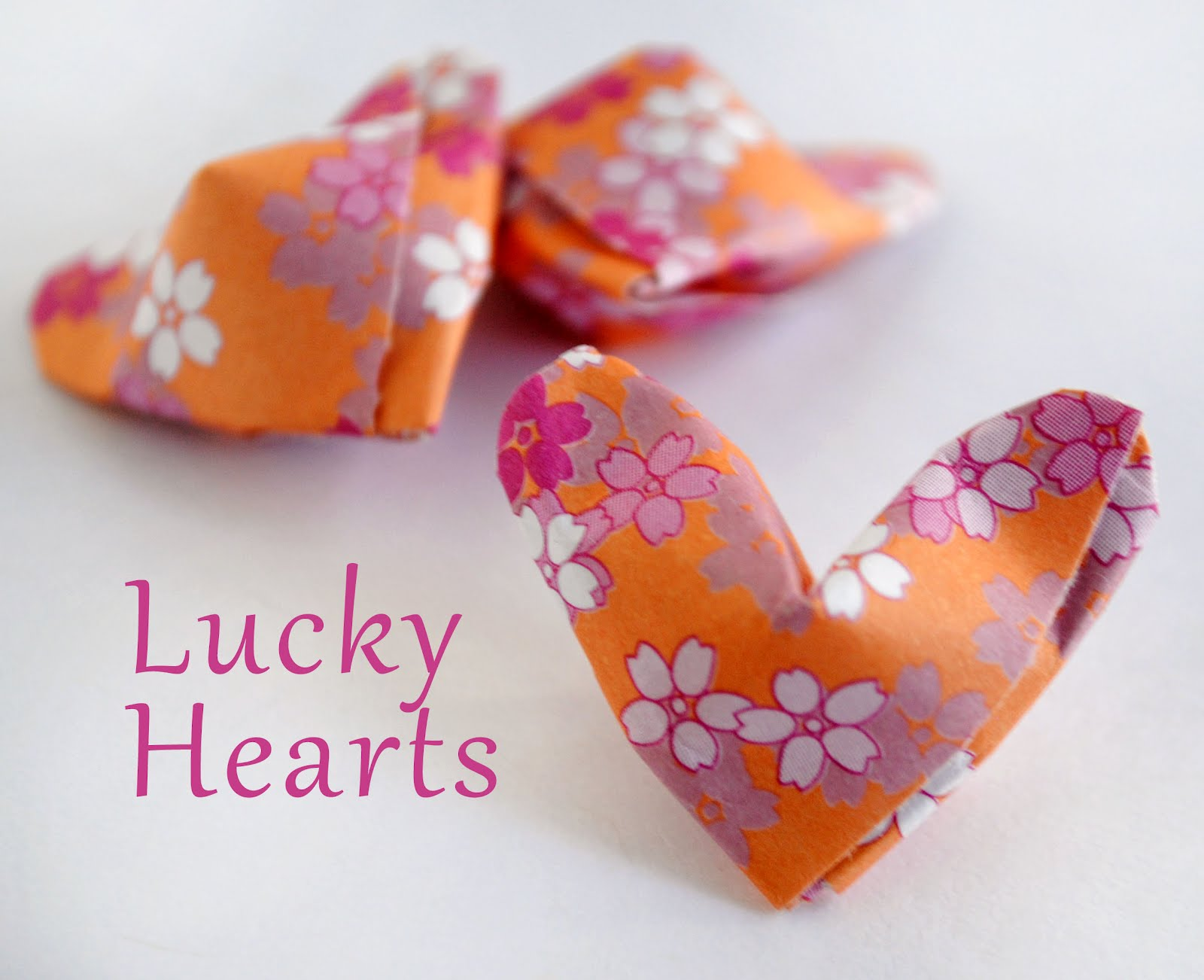 Zakka life origami lucky hearts for How to make lucky paper stars