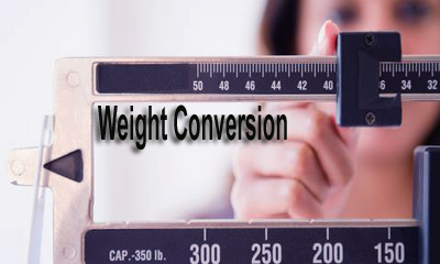 How to Conversion of Weight ?