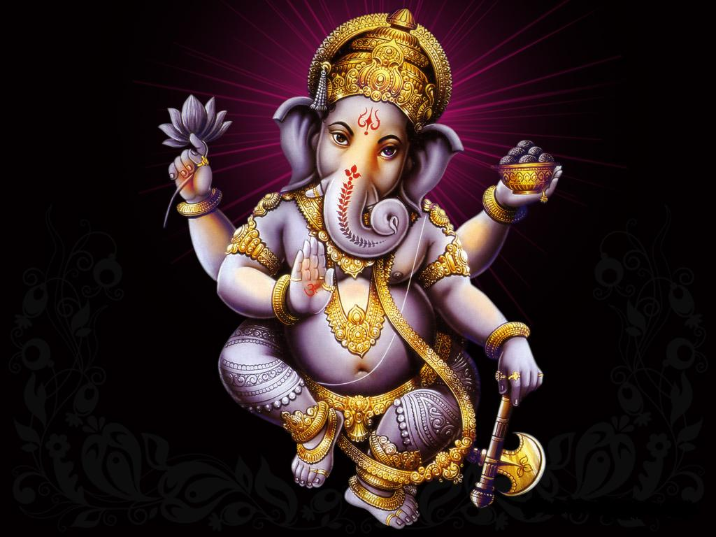 Lord Ganesha Hd Wallpapers: Lord Ganesha Dark Background HD Wallpaper Download