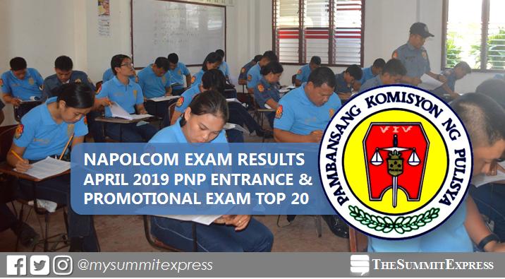 Top 20 Passers: April 2019 NAPOLCOM exam result