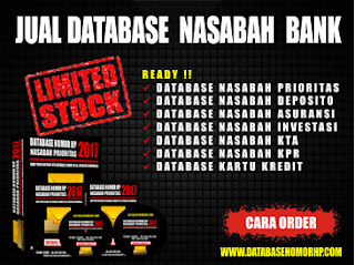 Jual Database Nasabah Prioritas