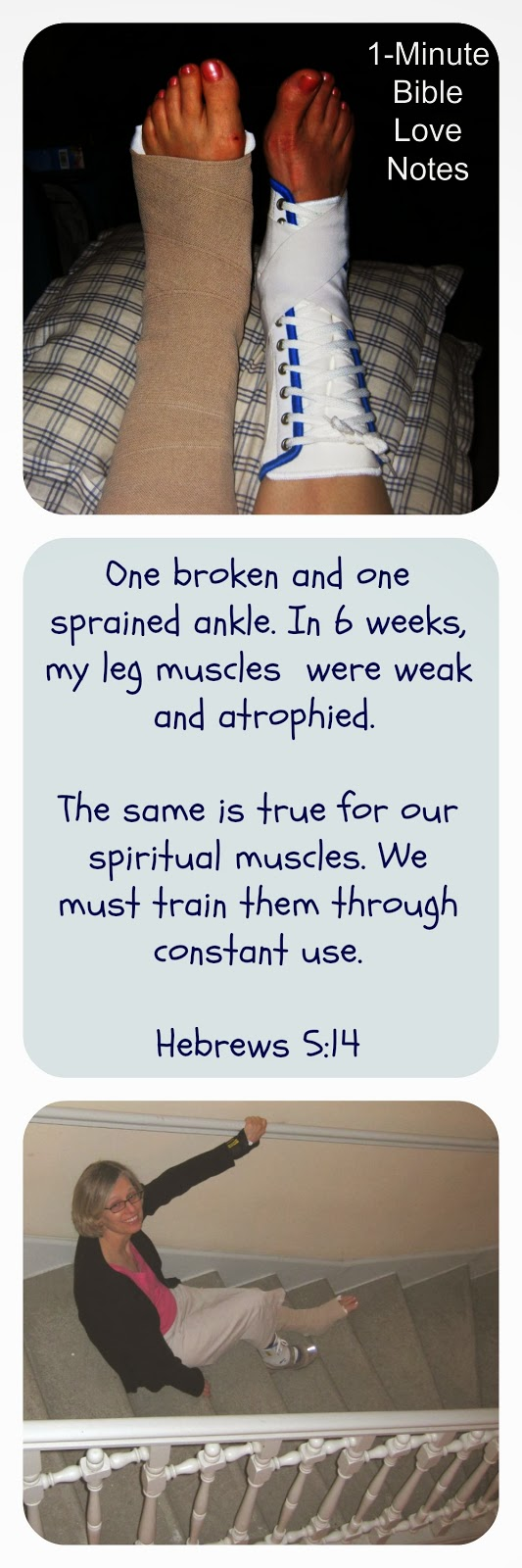 physical atrophy, spiritual atrophy, Hebrews 5:14, constant use of spiritual muscles