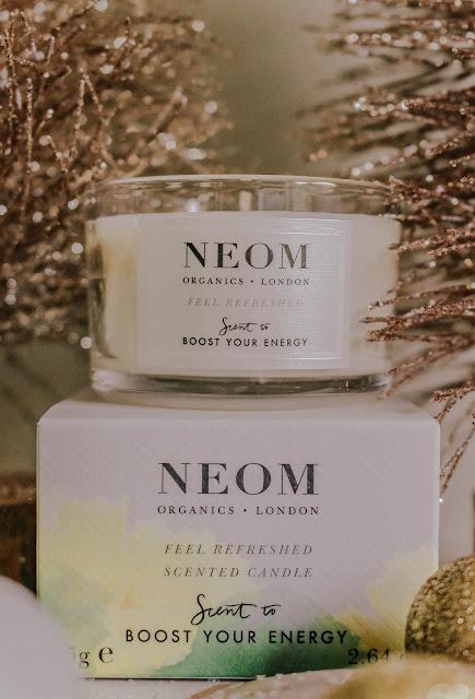 QVC Beauty Neon Organics Candle Christmas