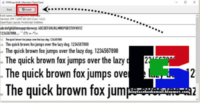 cara instal font di windows 7